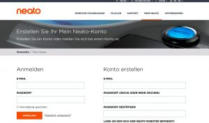 Neato Website (c) Neato