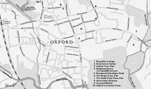 Karte von Oxford [Auszug]